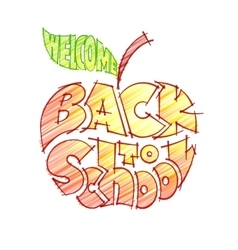 Back to school Pencil lettering inscribed in the vector image