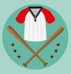 baseball sport shirt icon vector image