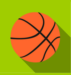 basketball icon flate single sport icon from the vector image