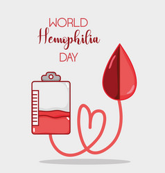 Blood transfusion with blood drop to hemophilia vector