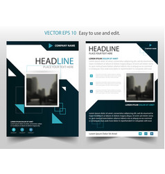 blue black annual report brochure flyer design vector image