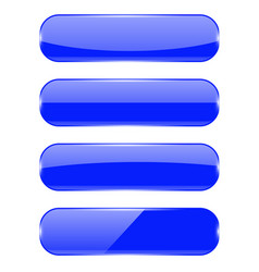 blue oval buttons with reflection vector image