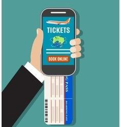 Booking online flights travel or ticket vector