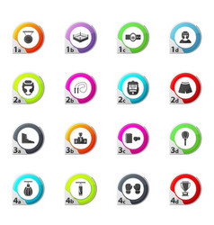 Boxing icons set vector