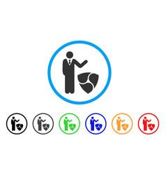 Businessman show nem rounded icon vector
