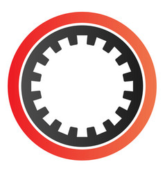 Car clutch plate flat icon car disc color icons vector