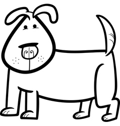 cartoon doodle of cute dog for coloring vector image