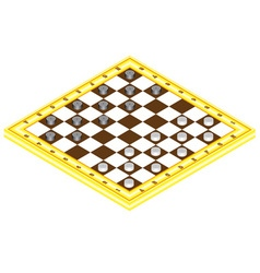 Checkerboard with checkers vector