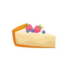 Cheesecake flat icon vector