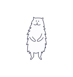 cute cat or kitten standing on hind legs hand vector image