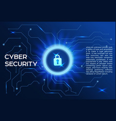 cyber security concept closed padlock icon vector image