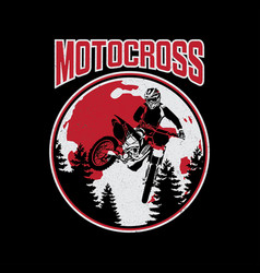 design of tee motocross vector image