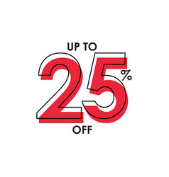 Discount up to 25 template design vector