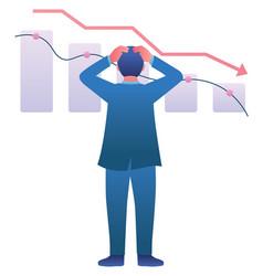 economic recession crash vector image