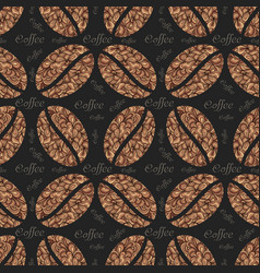 Elegant coffee pattern background vector
