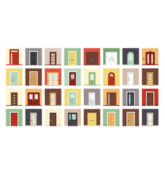 exterior and interior doors flat vector image