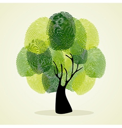Finger prints tree concept vector image