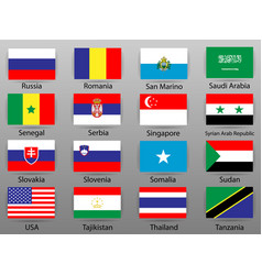 flags of all countries of the world part 9 vector image