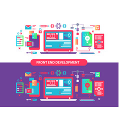 Front and development vector