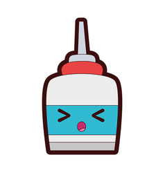Full color surprised and tender glue object kawaii vector