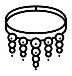 gemstone bracelet icon outline style vector image