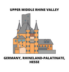 Germany rhineland-palatinate hesse upper middle vector