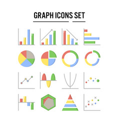 graph and diagram icon in flat design for web vector image