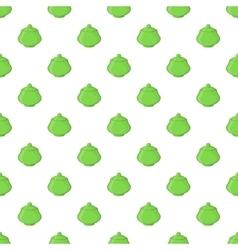 Green sugar bowl pattern cartoon style vector