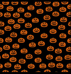Hand drawn jack-o-lantern seamless pattern vector