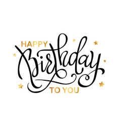 happy birthdaybeautiful greeting card vector image