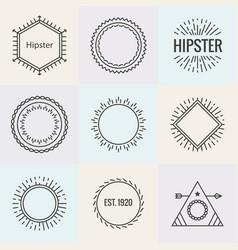 hipster burst logo sun text anchor sun ray cross vector image