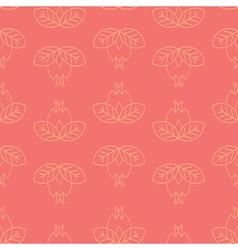 hipster floral line art pattern vector image