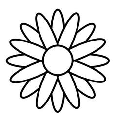 Honey flower icon outline style vector