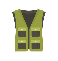 Hunter vest icon flat style vector