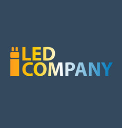 Led bulb logo led company logo led illumination vector