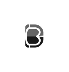 letter b d logo designs inspiration isolated on vector image