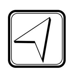Location pointer application icon vector