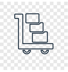 Logistics concept linear icon isolated on vector