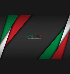 Made in italy background with italian colors vector