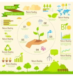 Nature Infographics vector image