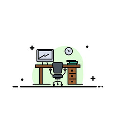 office space chair office table room business vector image