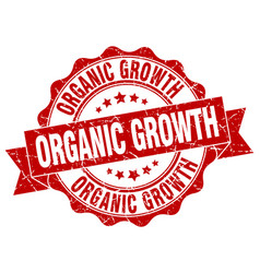 Organic growth stamp sign seal vector