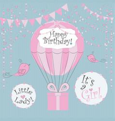 perfect to newborn birthday cards vector image