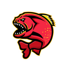 Piranha sports mascot vector