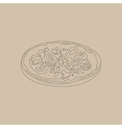 Pizza Hand Drawn Sketch vector