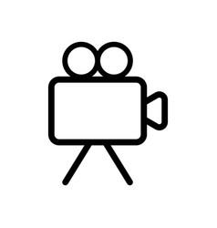 Professional videocamera icon videocamera symbol vector