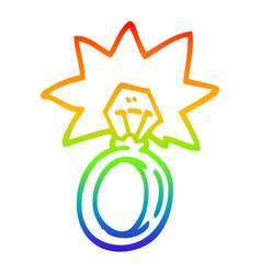 Rainbow gradient line drawing cartoon engagement vector