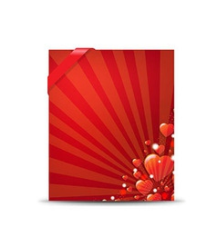 Red Valentines Day Banner vector image