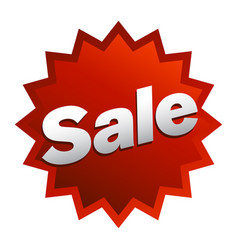 sale text badge sign vector image