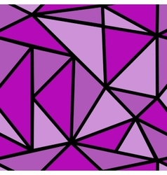 Seamless pattern with purple triangle vector image